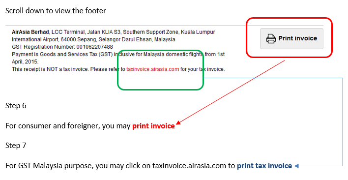 Addon domain for Air Asia Tax Invoice