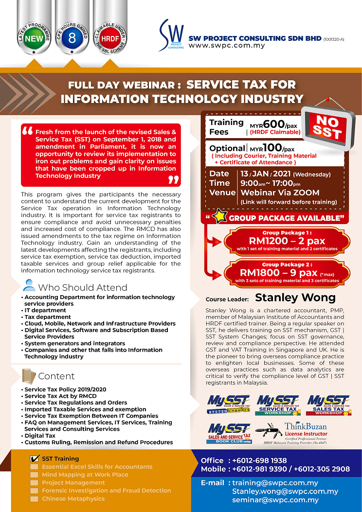Webinar - Service Tax for Information Technology Industry